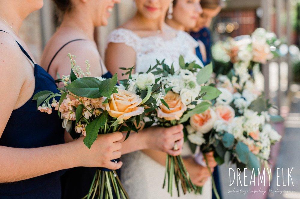 long navy mix matched bridesmaids dresses