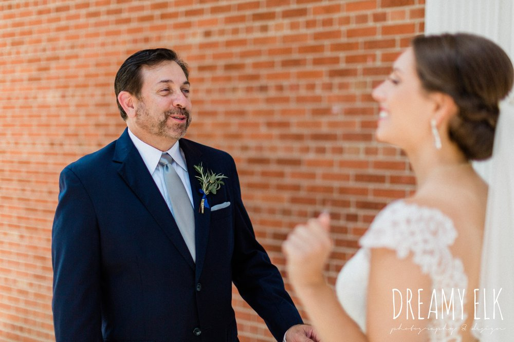 first look with dad, spring wedding photo college station texas, dreamy elk photography and design