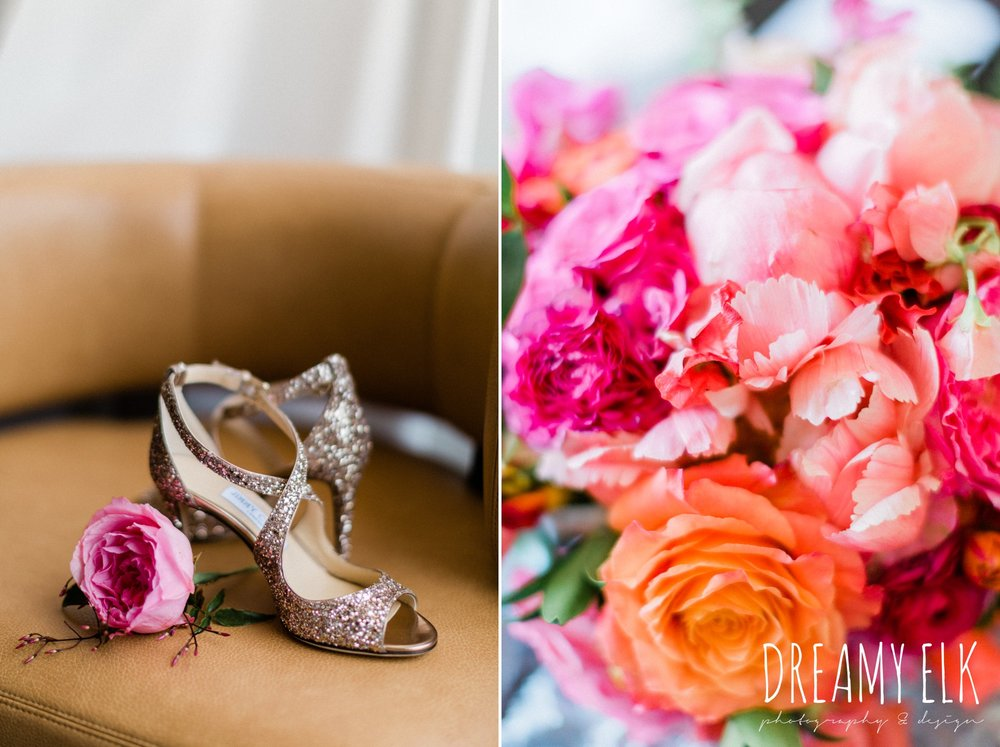 jimmy choo wedding shoes, spring colorful wedding photo, 809 at vickery, fort worth, texas, dreamy elk photography and design, jen rios weddings, kate foley designs