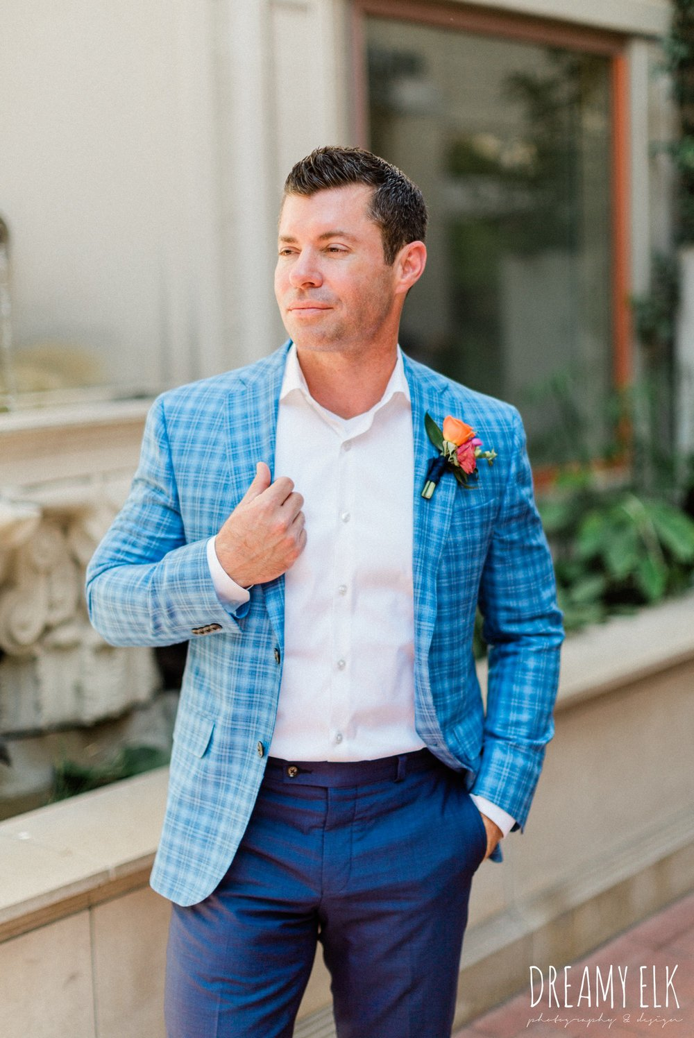 groom, ted baker, spring colorful pink orange wedding photo, fort worth, texas, dreamy elk photography and design, jen rios weddings, kate foley designs