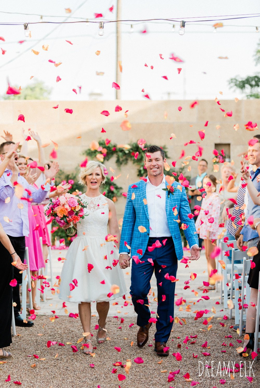 spring colorful pink orange wedding photo, fort worth, texas, dreamy elk photography and design, jen rios weddings, kate foley designs