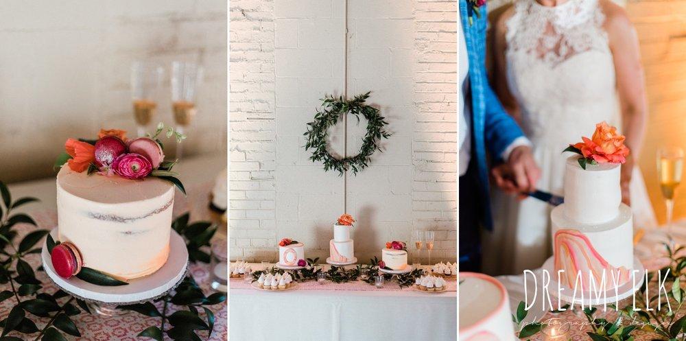 loft 22 cakes, reception decor, spring colorful pink orange wedding photo, fort worth, texas, dreamy elk photography and design, jen rios weddings, kate foley designs