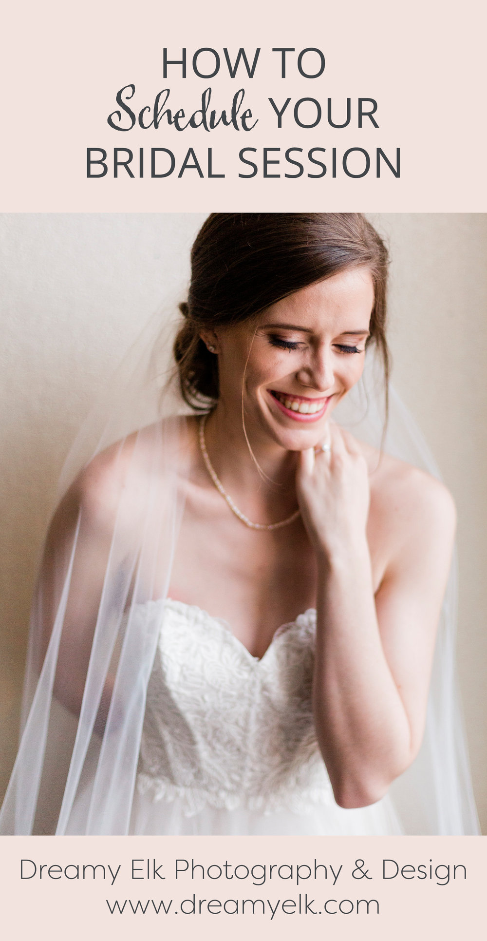 how to schedule your bridal session