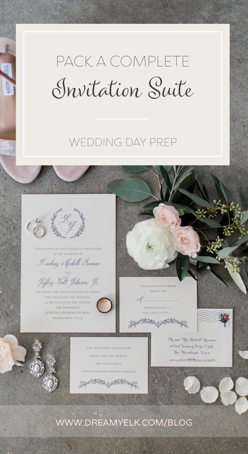 pack a complete invitation suite — Dreamy Elk Photography & Design, LLC