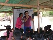 Kayla sharing the Gospel