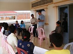 "Leadership seminar ""The Way of the Lord"". Pr Mike Cronin & interpreter Pr Sem Sophal"
