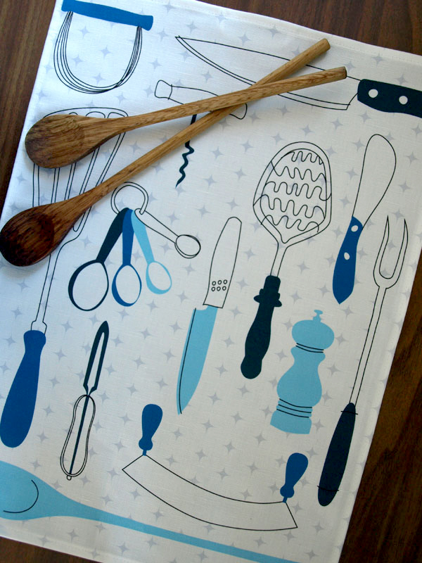 A new linen tea towel design fresh from the printers!  (Designed by Lilleputt Studio)