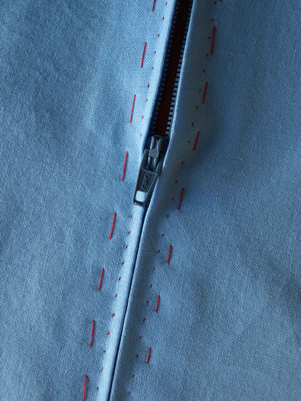 Sewing sample from class: Insetting a zipper by hand.