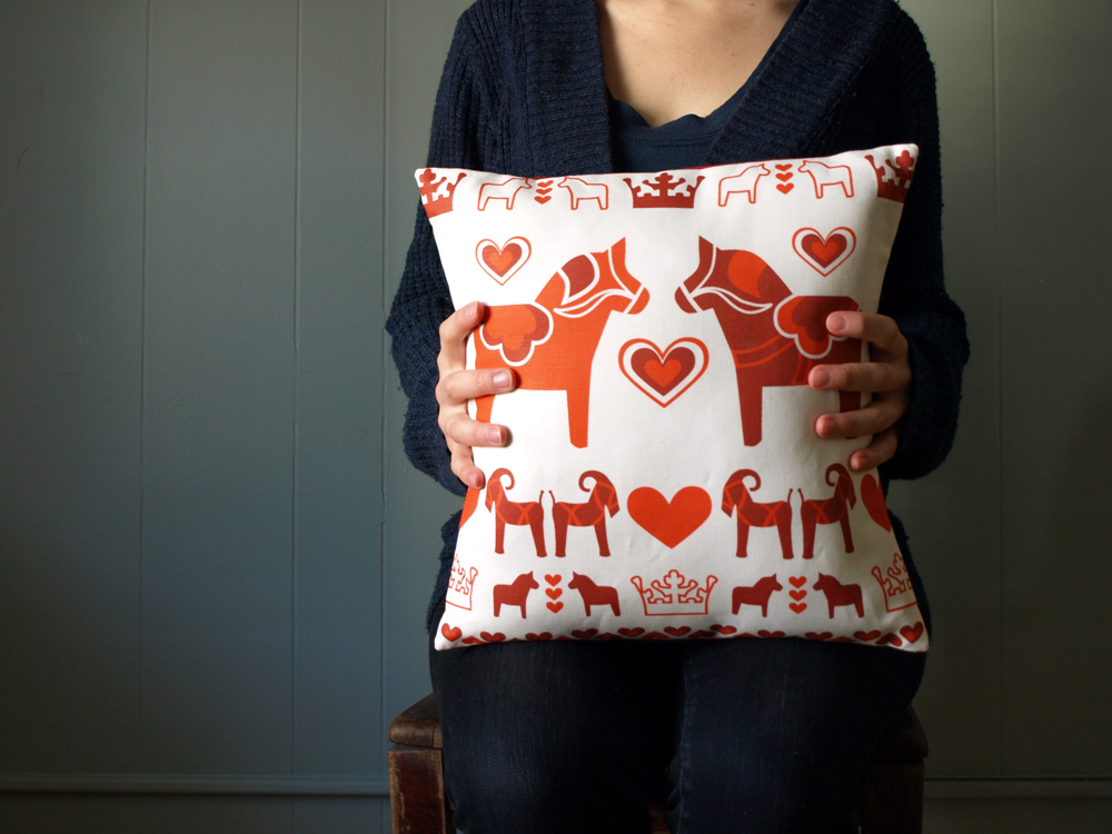 New pillow up on etsy! Little and cute. And oh so Swedish.