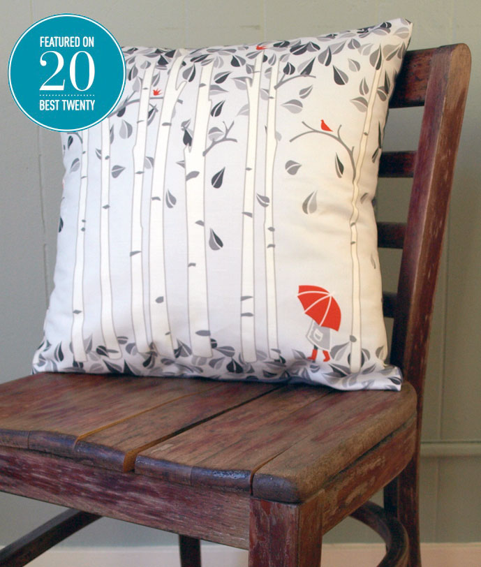 Excited to have my work featured in the curated web marketplace,  20 Best Twenty . Find my Birch Tree Pillow in the Home Goods, alongside some other great items on there:  take a look!
