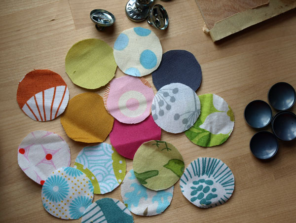 Button-making time! More pin cushions in the works…