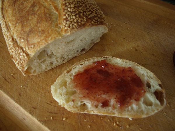 Daily bread: This has quickly become one of my favorites. With a crunchy, sesame crust, it's delicious with strawberry jam.