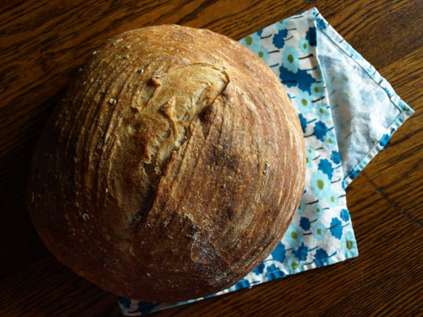 Daily bread: A lovely loaf of sourdough.
