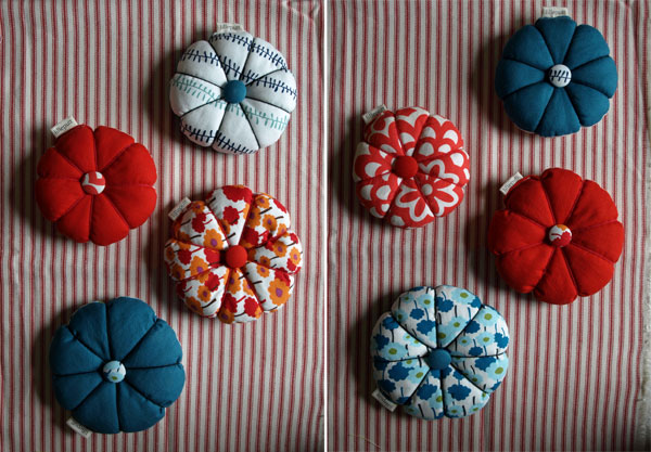 new pincushions… (front and back sides).
