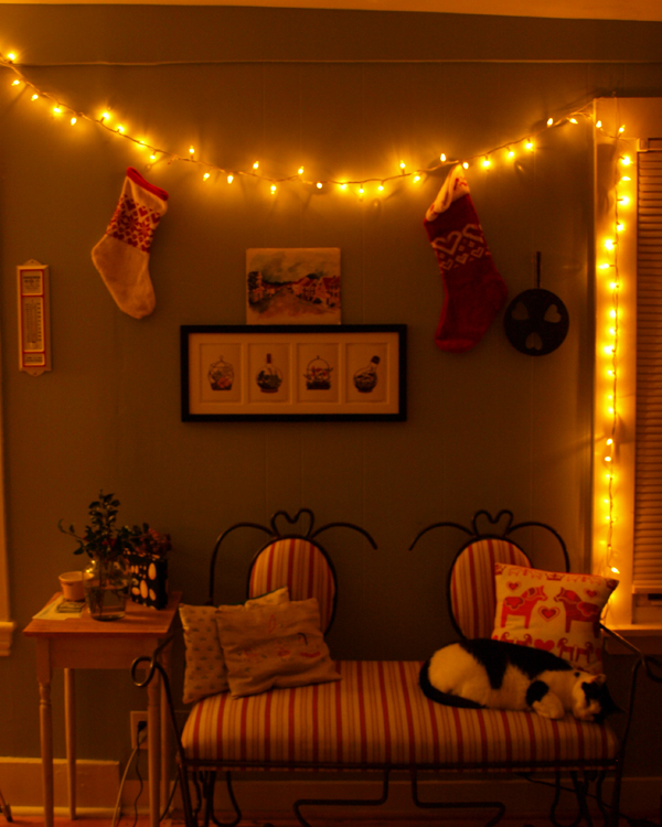 Finally hung up the stockings, and realized I never made one for Radio. Hoping to find some time in the next day or so…