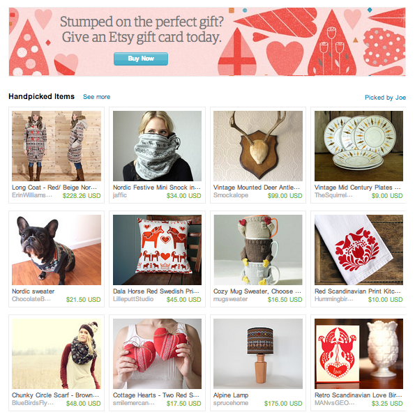 Head over to etsy.com to find our Red Dala Pillow featured front and center on the etsy's home page!!
