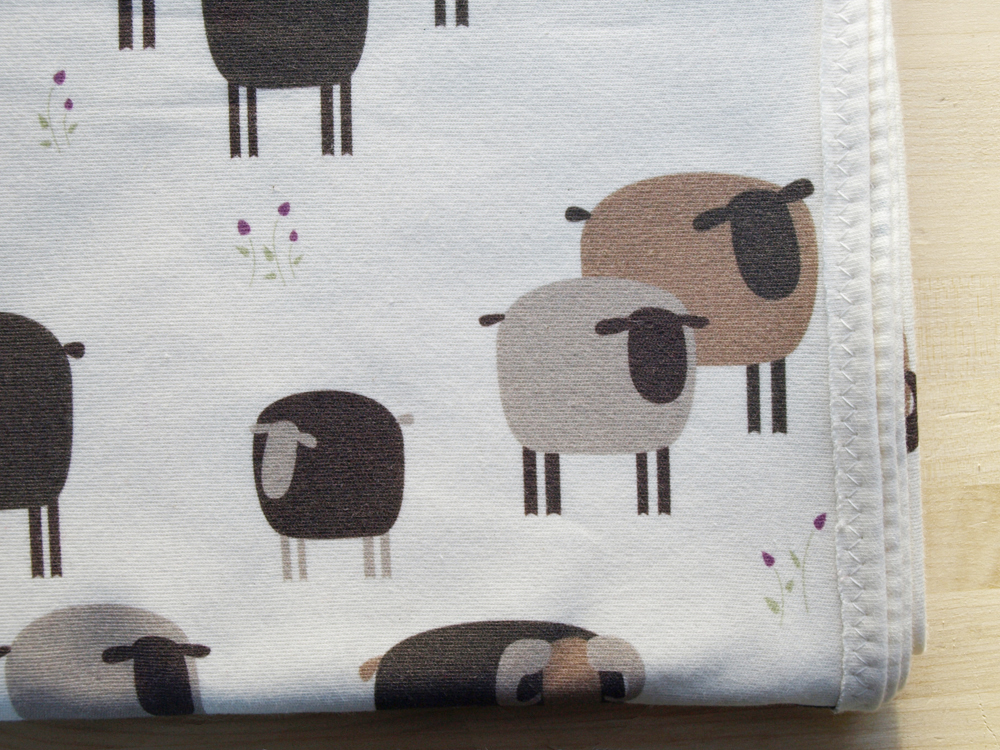 A better detail to show the hint of purple in my brown sheep baby blanket…