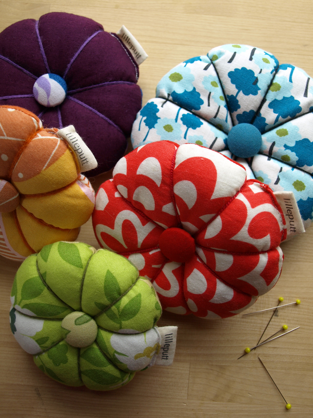 Replenishing the pincushions in the shop! Find these (and more!) here.