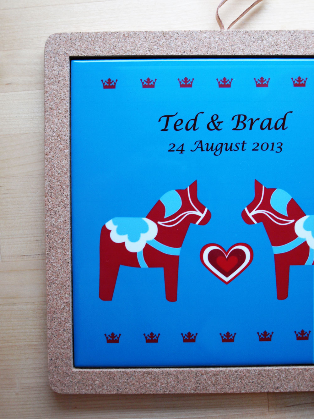 Congratulations to Brad and Ted on their wedding day! I hope it was a beautiful day in Stockholm.