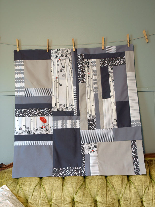 Grey baby quilt in the works!