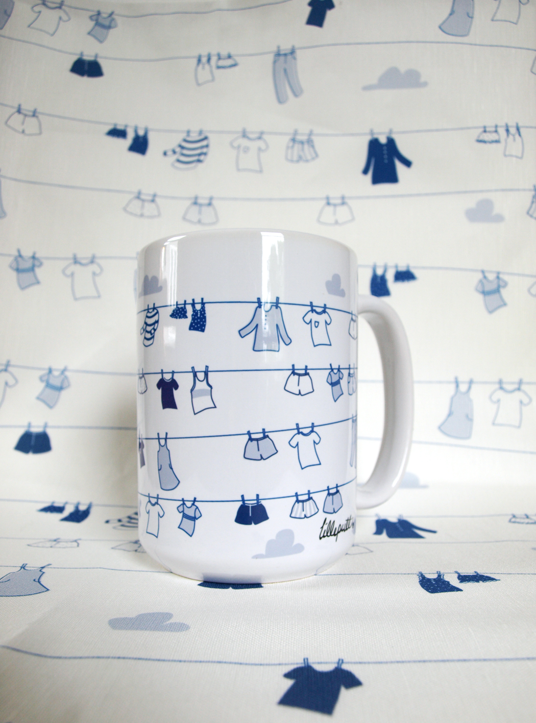 New mugs are live in the shop!     (The matching tea towel will find it's way into the shop later this week).
