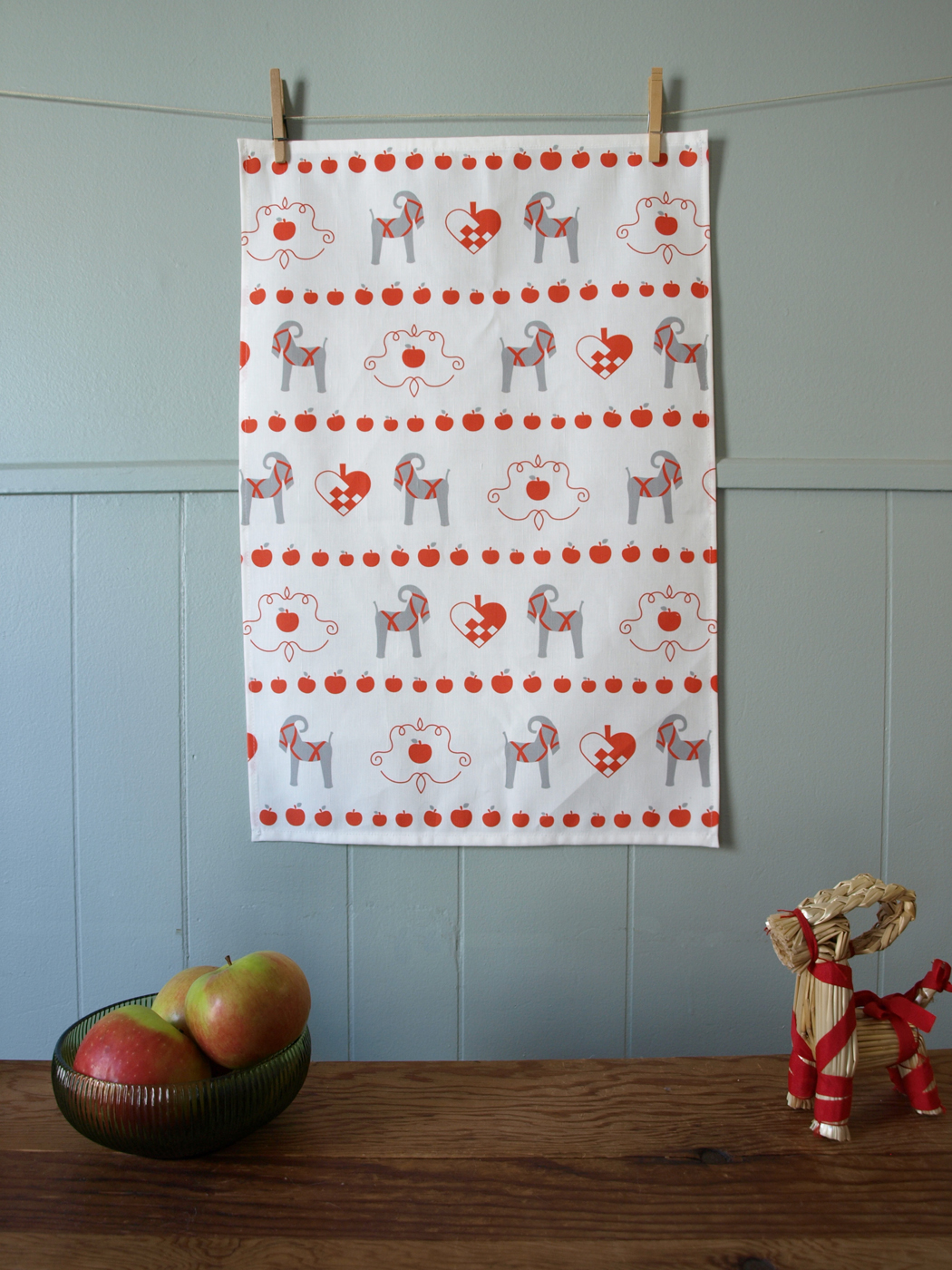 Our Swedish Christmas Goat tea towels are now in the shop.