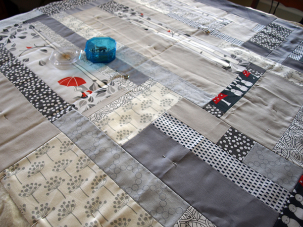 Getting ready to quilt…