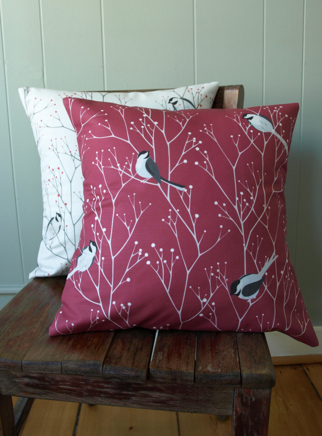 Who knew Mainers loved their state bird so much! (I didn't).    Restocking our chickadees: tea towel fabric arriving any day, and fabric for pillows next week. If you can stand a little longer wait than usual, we are up and taking orders again!