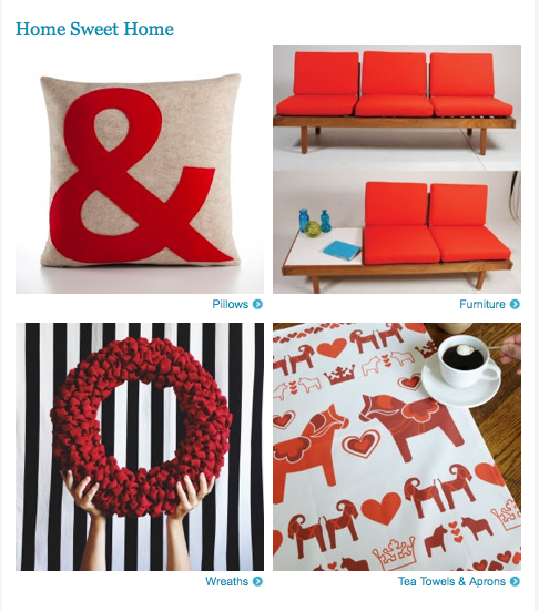 Still a favorite: Our Red Dala tea towel featured in the Etsy Finds email earlier this week!