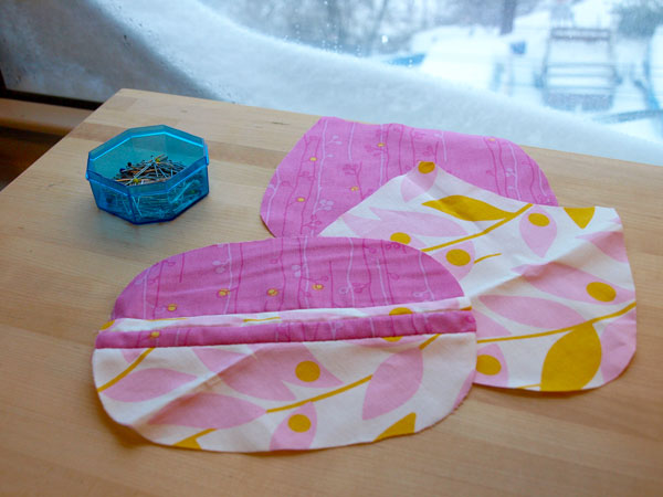 More snow to come today!  Sewing away in the studio…