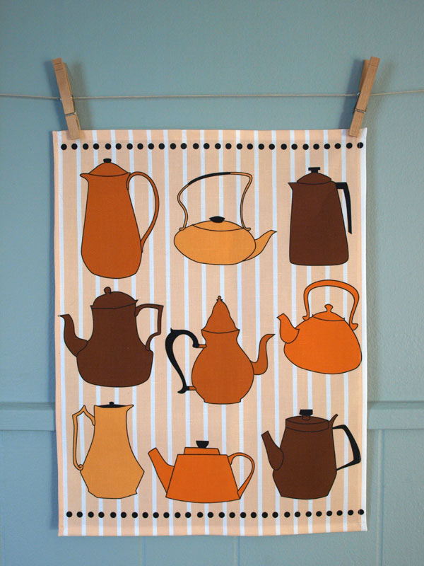 Peach Tea tea towel