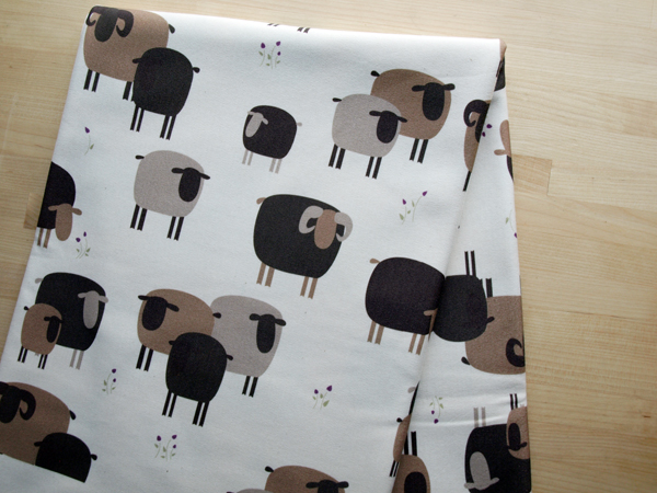 My newest baby blanket design! Swedish sheep, of course ( Roslagsfår).  Find these sewn and in the shop early next week.