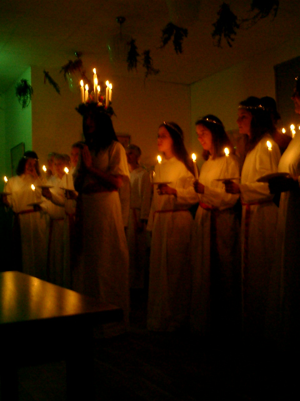 Happy St Lucia! I dug up this old photo from the Luciatåg at my school, Ölands Folkhögskola, back in the early 2000s (I'm the one right behind Lucia!). I wont have any time to bake goodies today as I'm still sewing up a storm, but I think I'll make up for it on Saturday at the Swedish Fair… plenty of lussekatter and sweets to be had there!