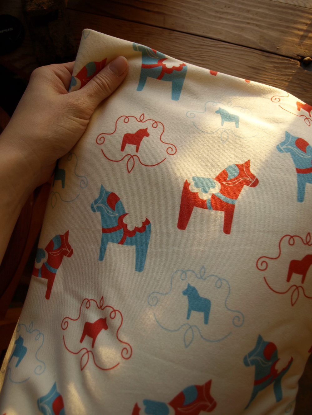 SO excited to get home yesterday evening and find one of my new fabrics has arrived from the printers. And this one, special for babies! Printed on Organic Cotton Jersey…. nursing blankets in the making!