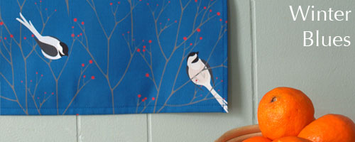 Maine chickadees, winter birds, dala horses, nordic winter