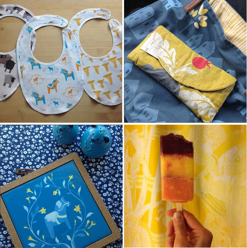Instagram is making me very conscious of my 'color moods'. Blue and yellow with thoughts of summer this week.... And several custom orders completed and shipped for Mother's Day! I have to say, I'm impressed with how on top of gift-giving some of you are.