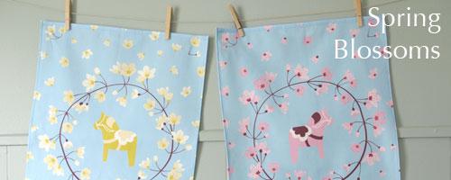 Spring Dala Horses, Spring Blossoms