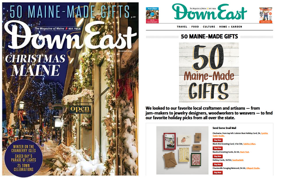 DownEast Magazine, December 2014 Issue  View full Gift Guide at Downeast.com