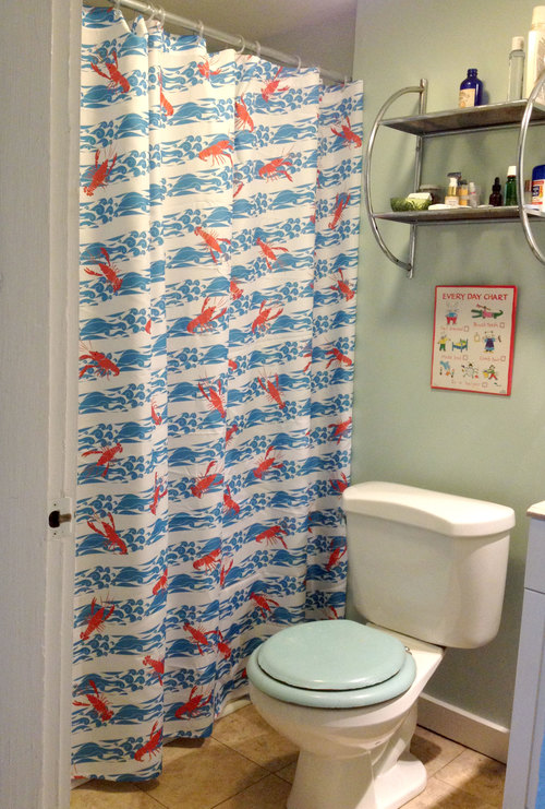 Crayfish Lobster Shower Curtain