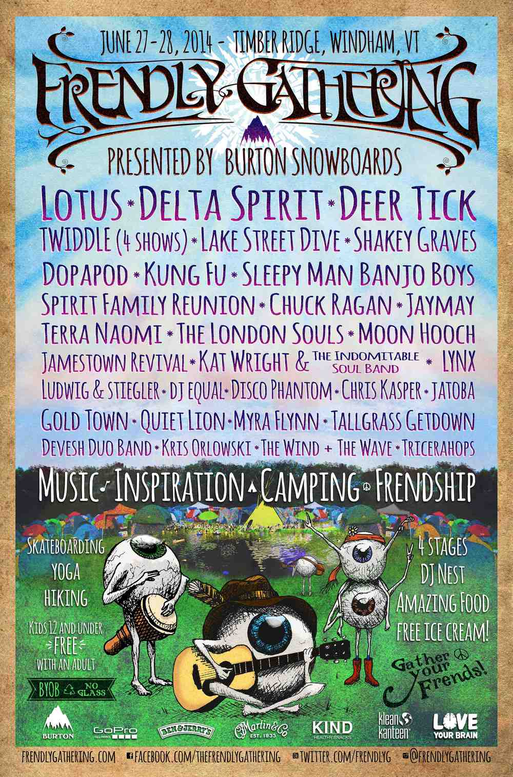 2014 Frendly Gathering Poster Artist: Chuck McLean