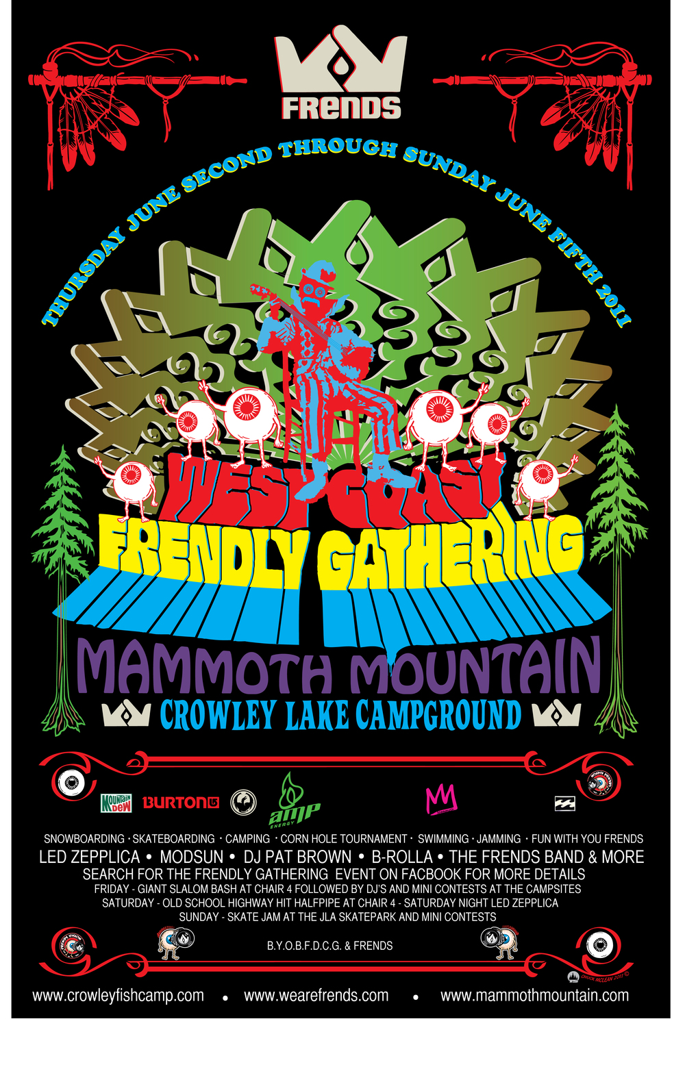 2011 West Coast Frendly Gathering Poster   Artist: Chuck McLean