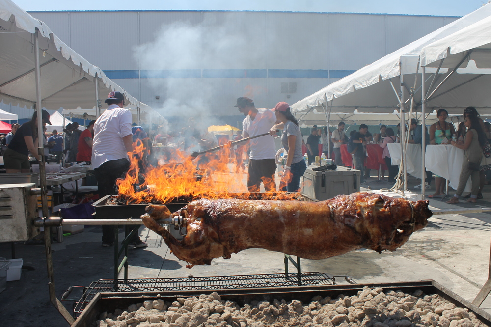Meat on a spit because, naturally. From chef Michael Psilakis & musician Jarobi White, in partnership with La Brea Bakery.