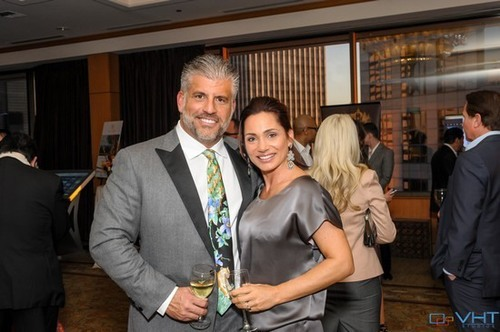 PICTURED ABOVE: Heading to the gala, Scott Swerland and girlfriend Brooke Catano enjoy a stop by the Passport to Luxury.