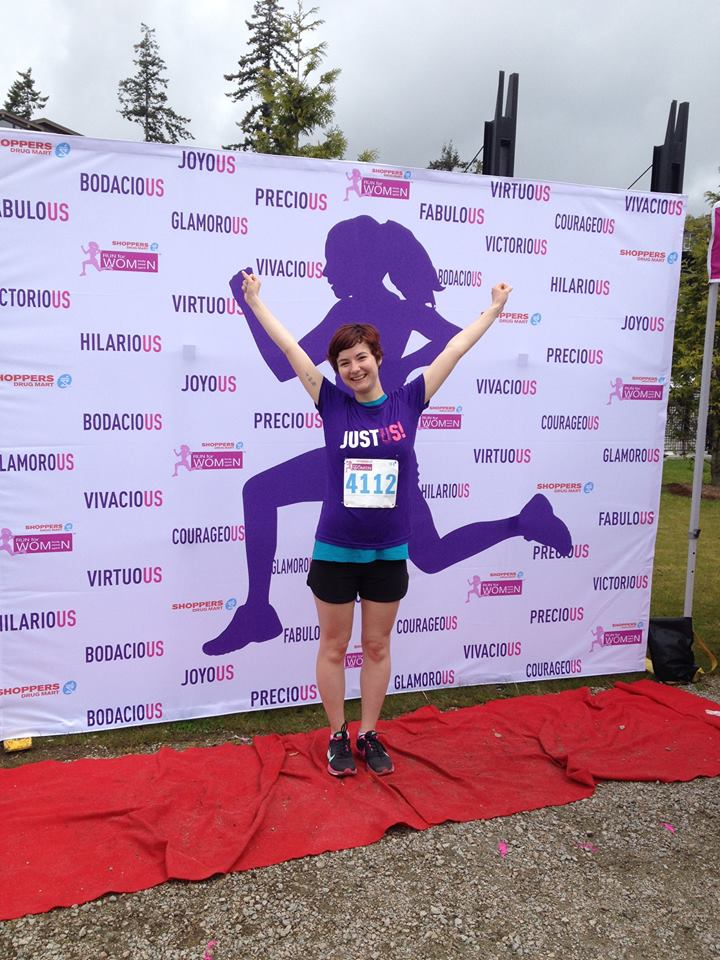 Me after running my first 10 k of the summer!