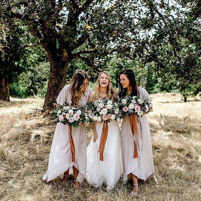 "Tanya and her girls being a whole lot of happy❤️ Happiness is a choice on your wedding day, it's not a guarantee. You have to choose to be happy when things don't go as planned, when family is being annoying, when things run late, when flowers aren't what you expected, when it rains, and so on.  When things go ""wrong"" you have the choice to still choose happiness in those situations! Things never go perfectly on a wedding day, but what truly makes the day perfect is your mind set! .  Videographer:@lopugavictoria  Florist:@bouquets_unlimited  Hair and makeup:@debbiezilinski  Floral ribbons:@fortheloveoffloral  Wedding invites:@rebeccafrolova  Ring:@whitneyshelhamer . . . . . . . #loveintentionally  #loveauthentic  #photobugcommunity  #thatsdarling  #weddinging  #pnwbride #elopementphotographer  #weddingphotographer #everydayIBT #weddingphoto  #weddingdayready  #authenticlovemag #junebugweddings #belovedstories #destinationweddingphotographer  #weddinginspiration #gws #  #portlandwedding #oregonwedding  #oregonweddingphotographer #portlandweddingphotographer  #meaningfulwedding"