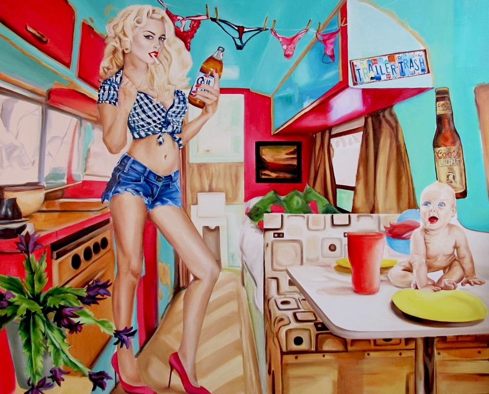 "Cindy Right ain't that bright  48 x 60""  oil on canvas 2013"