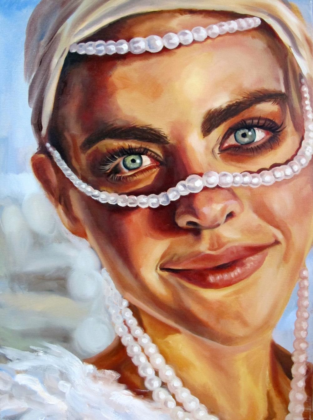 "Desert pearl 24 x 20"" oil on canvas 2014"