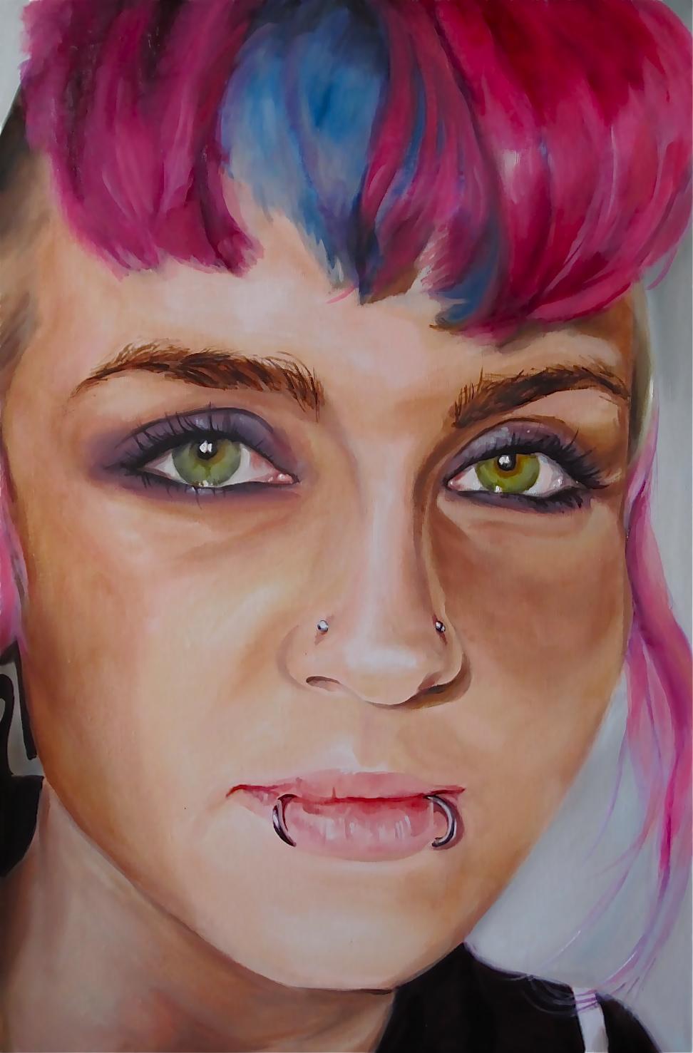 """Layla 36 x 24"""" oil on linen 2013"""