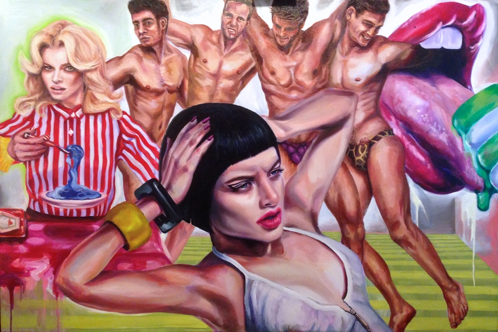 "Mad Cravings 40 x 60"" oil on canvas 2015"
