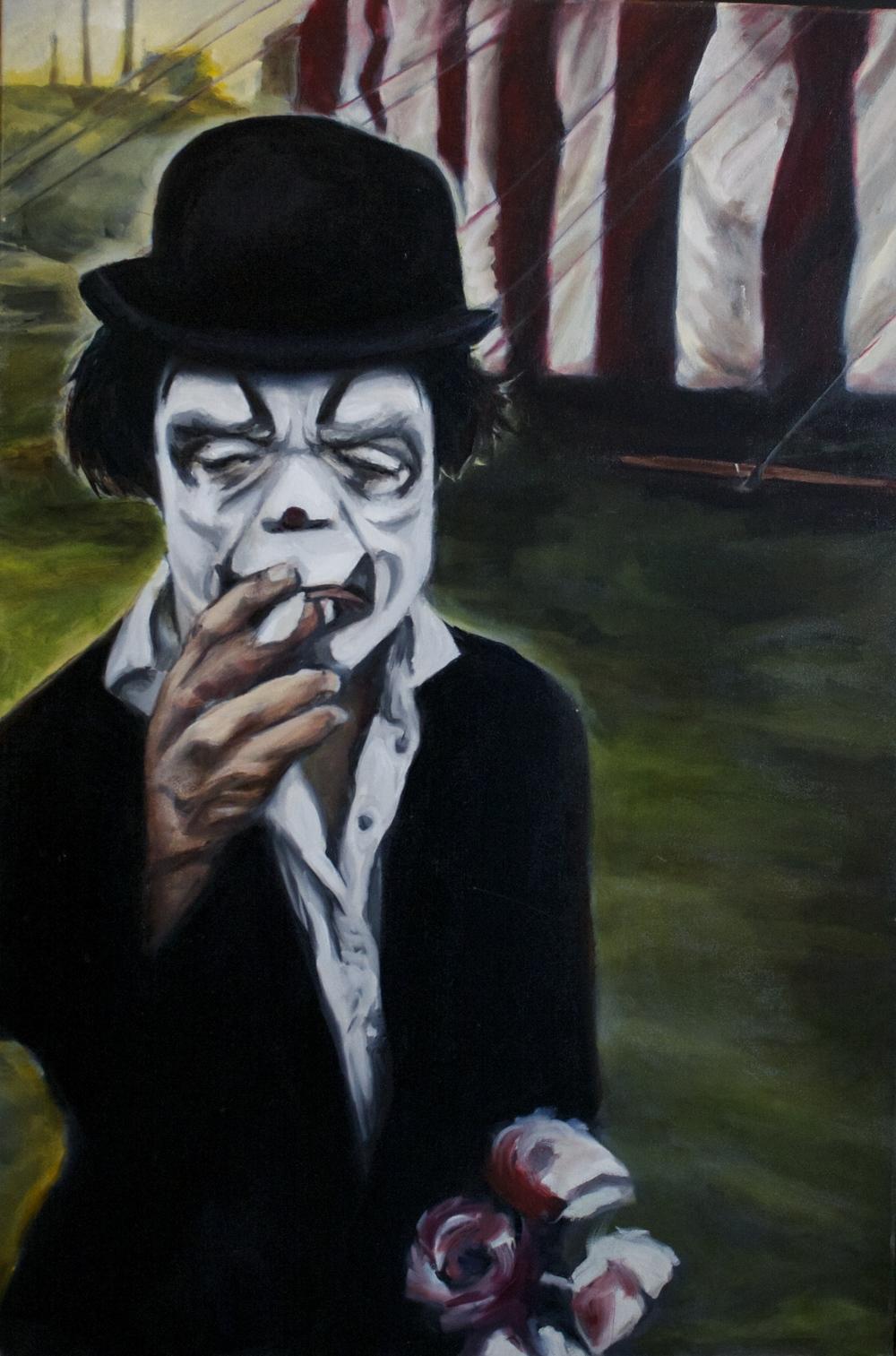 "Last break of dawn 36 x 24"" oil on canvas 2012"